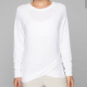 ATHLETA S White Criss Cross Sweatshirt